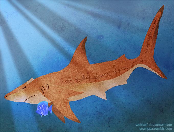 Sharkrek and Fishymanda by Stumppa