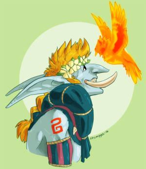 Birb ur on fire