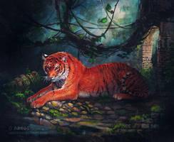 Acrylic on canvas - Deep jungle