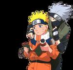 Naruto and Kakashi - render