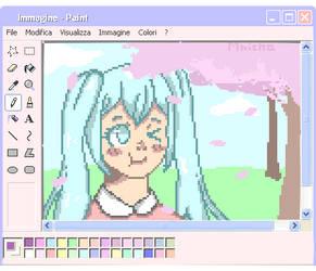 Hatsune Miku Pixel Art by xXKannaChanXx