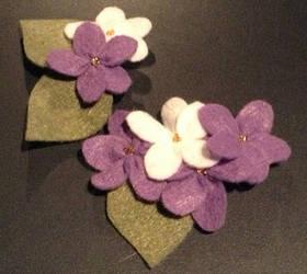 Lilac hairclips