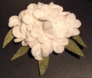 Hydrangea hairclip
