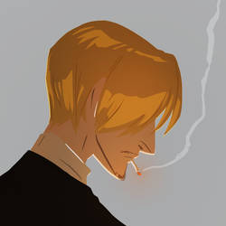 Colour practice 2- Sanji by olafpriol