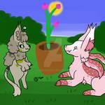 [Stygians] Gardening Friends ~ Admirering Blooms