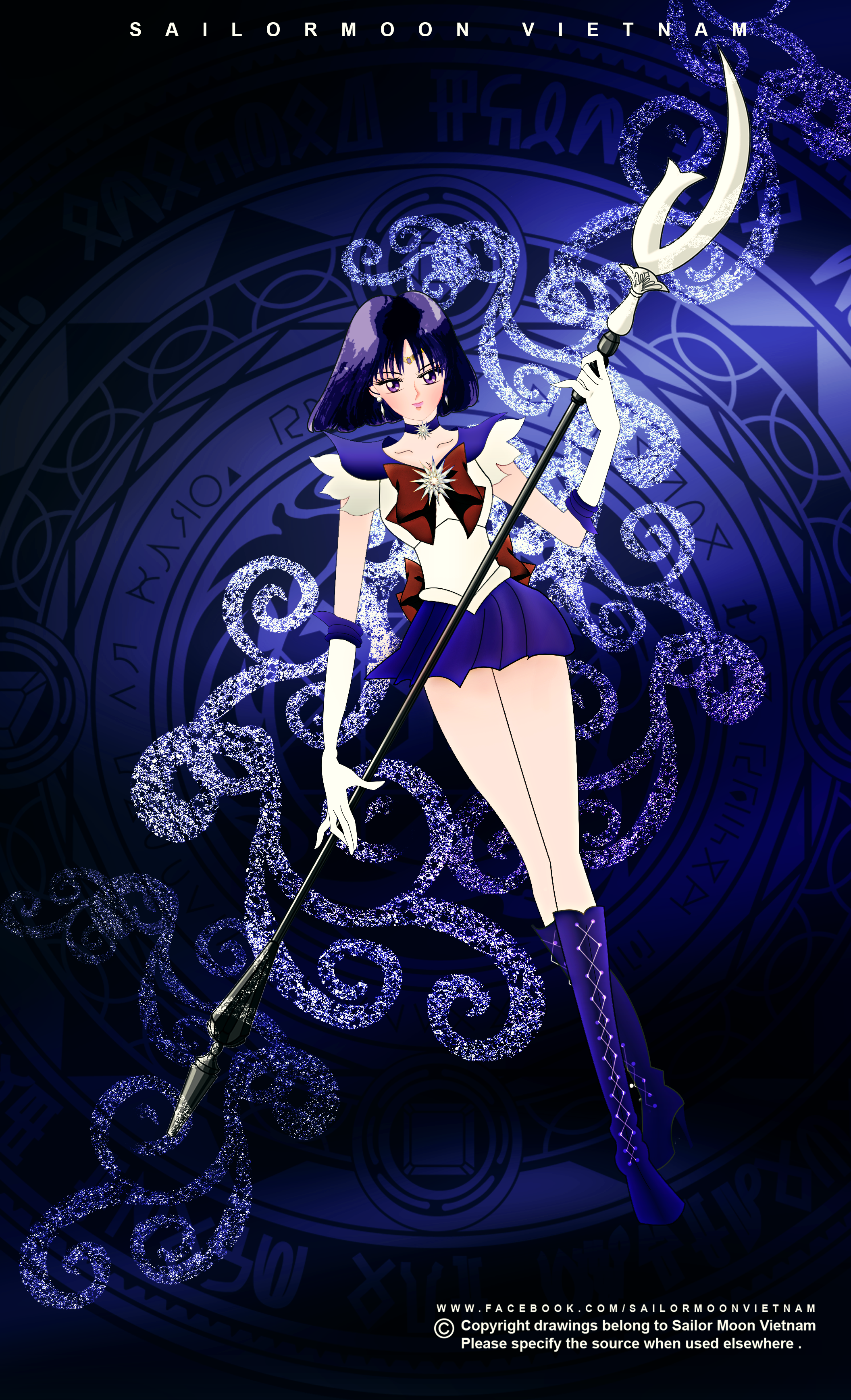 Sailor Moon Crystal_Sailor Saturn by sailormoonvietnam on DeviantArt