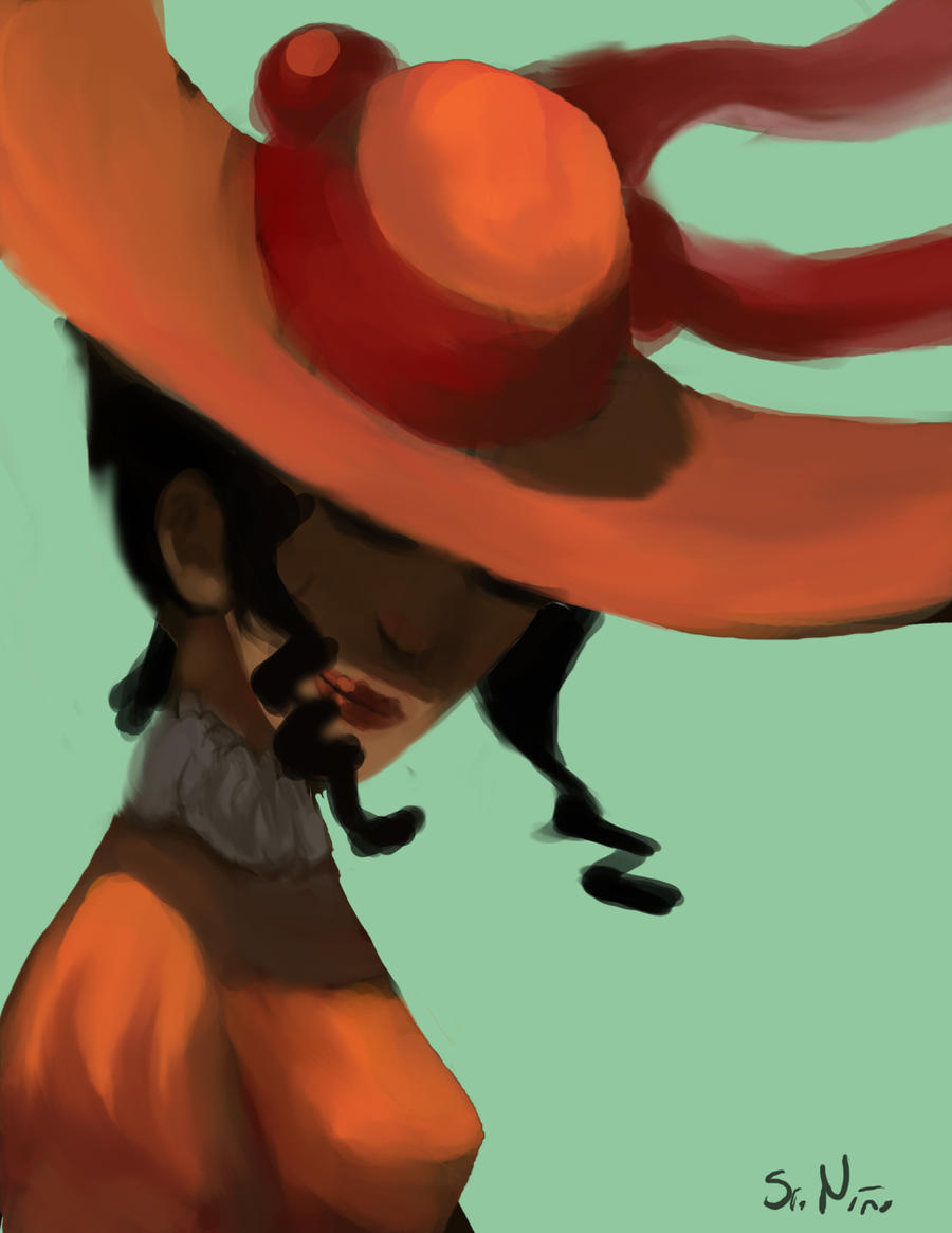 Woman with hat color by skeiro