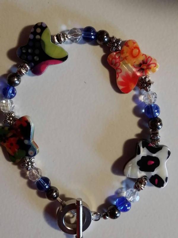 Funky butterfly bracelet by monac66