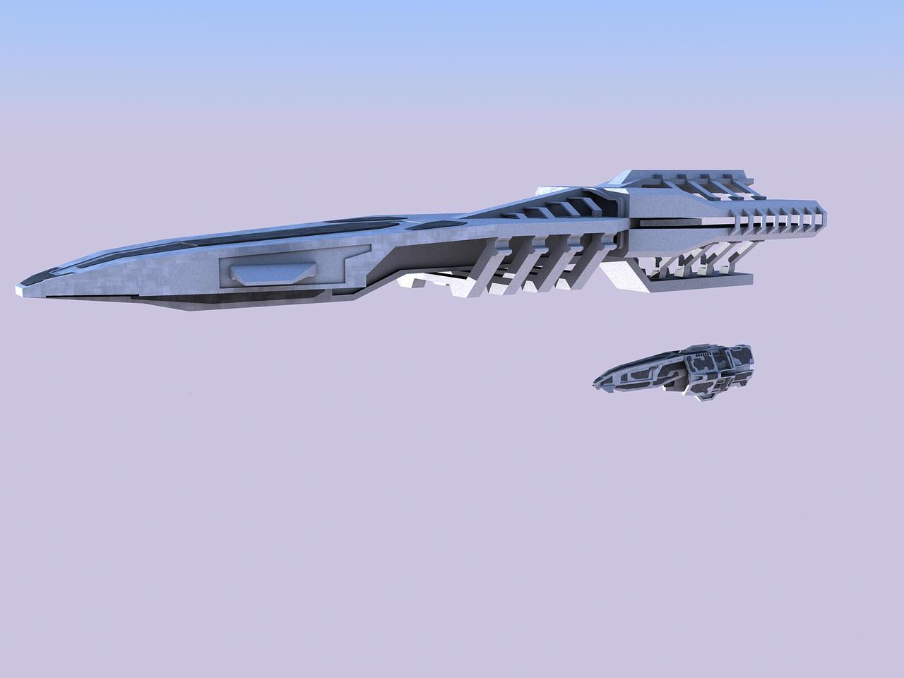 Erebos-Class-Dreadnought WIP by DerSaryn
