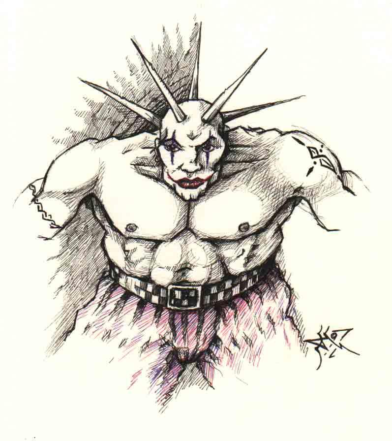 Clown Jack In The Box Tattoo Front Jr Raglan