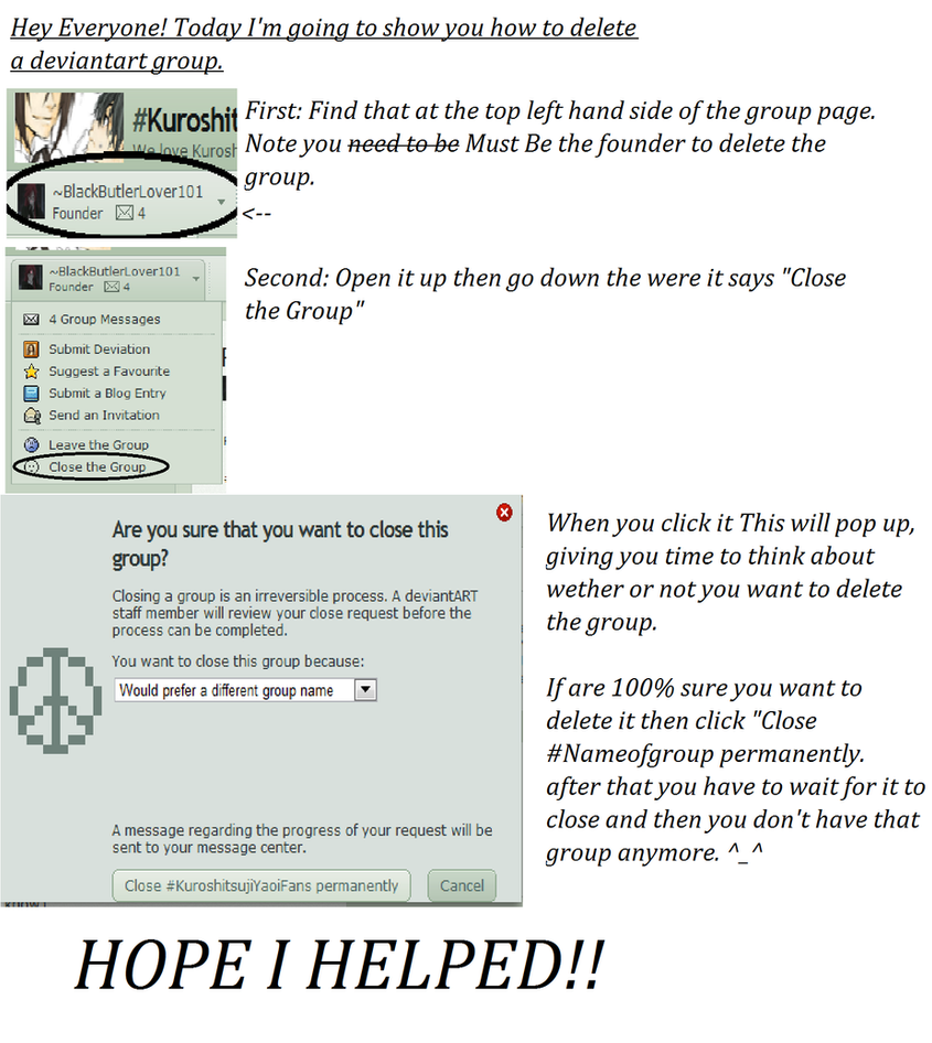 How To Close A DeviantArt Account When Someone Dies ...