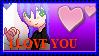 I LOVE YOU xAutumxAkaitax Stamp by Katie-Kimii