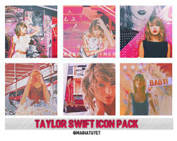 Icon Pack #1: Taylor Swift by maihatuyet