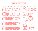 FREE Mini Icons :: chibi bunnies by MisakiHanako