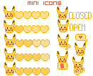 mini icons pika edition FREE! by MisakiHanako