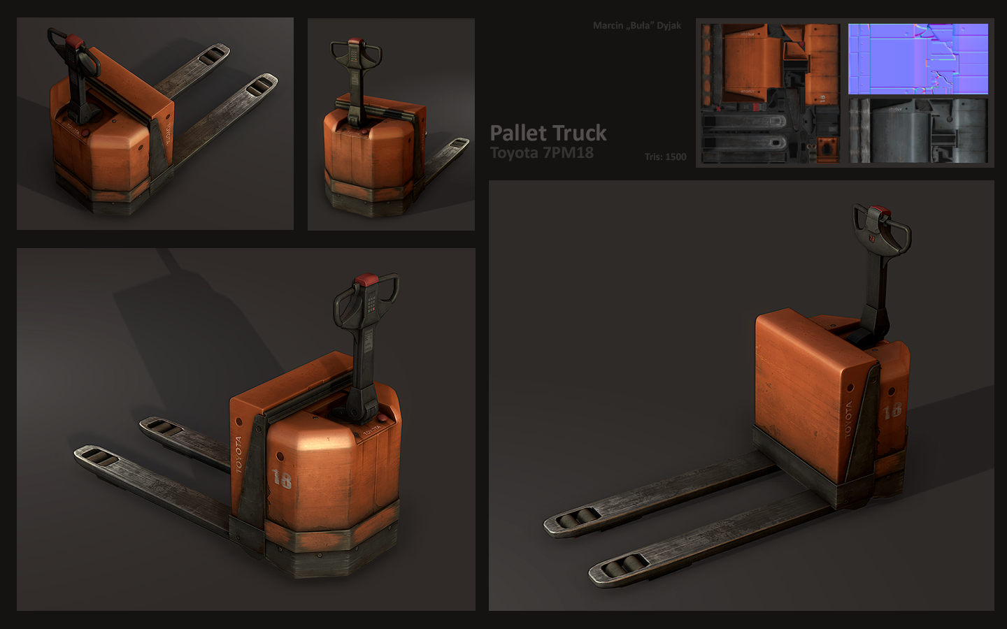 Pallet Truck Toyota 7PM18 by Bula17