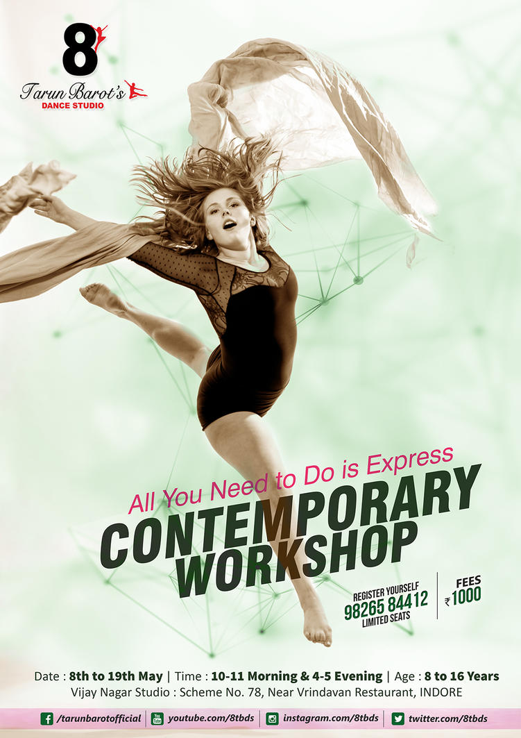 Contemporary Dance Poster2 By Irshaddarpan