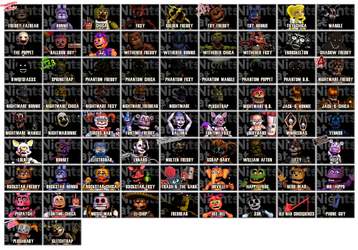 Every Five Nights At Freddy's by anotherfblog