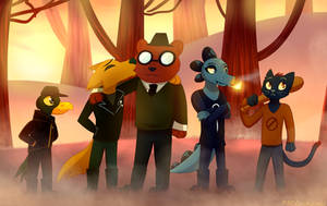 The Gang is Here!~Night in the Woods Fanart by MadDaDog