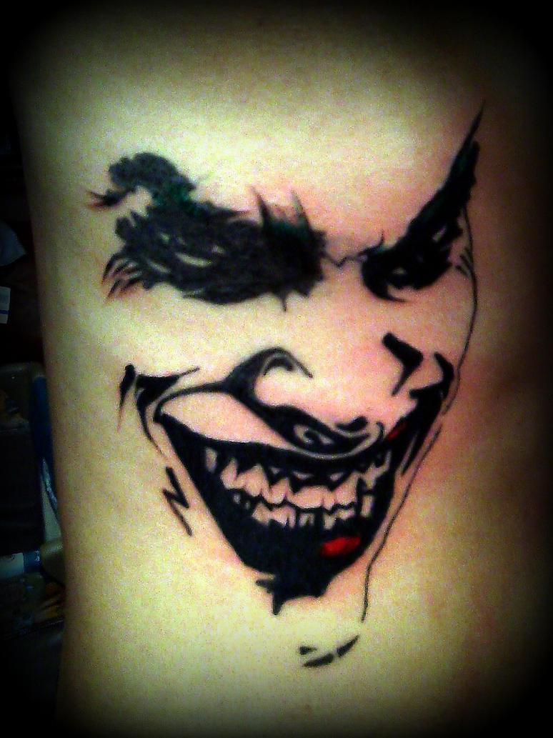Joker tattoo by ganzotattoo on deviantart for The joker tattoo
