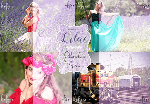 Lilac Photoshop Action