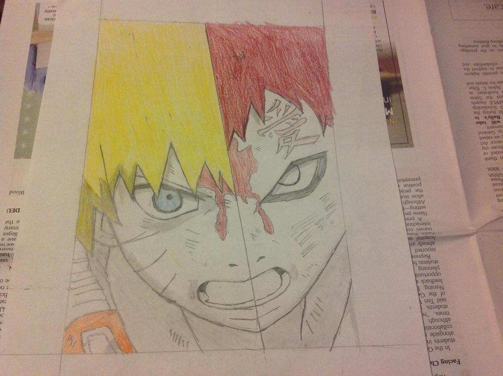 Naruto/Gaara drawing by SHOOPxDAxWHOOP