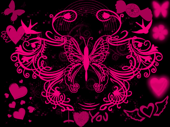 Wallpaper Love Pink Black : Black And Pink Wallpaper by angeldollyrockz on DeviantArt
