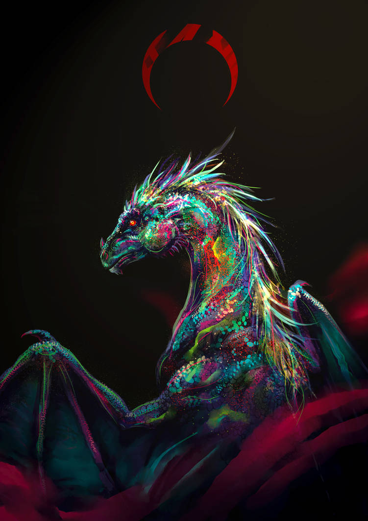 Opal dragon by LiliiaSokolova