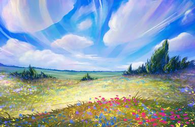 Summer field by LuckyTraveller