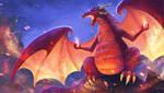 Red dragon by LiliiaSokolova