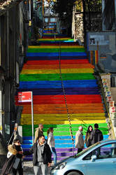 Rainbow Stairs by LordXar