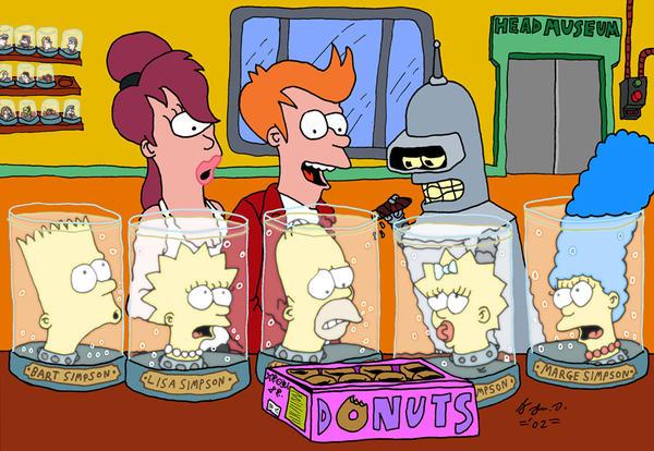 Mate a Pessoa Acima com Um Golpe de Anime/Filme/Jogo - Página 2 Simpsons_meets_Futurama_by_JohnDAnims