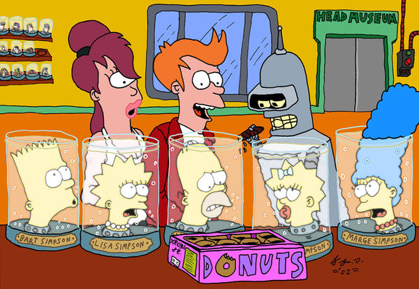 Simpsons meets Futurama by JohnDAnims