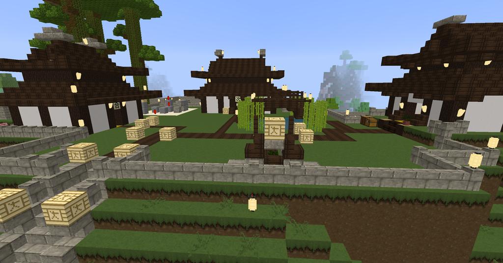 My Japanese Village I made. by Nara-Ousansamaki