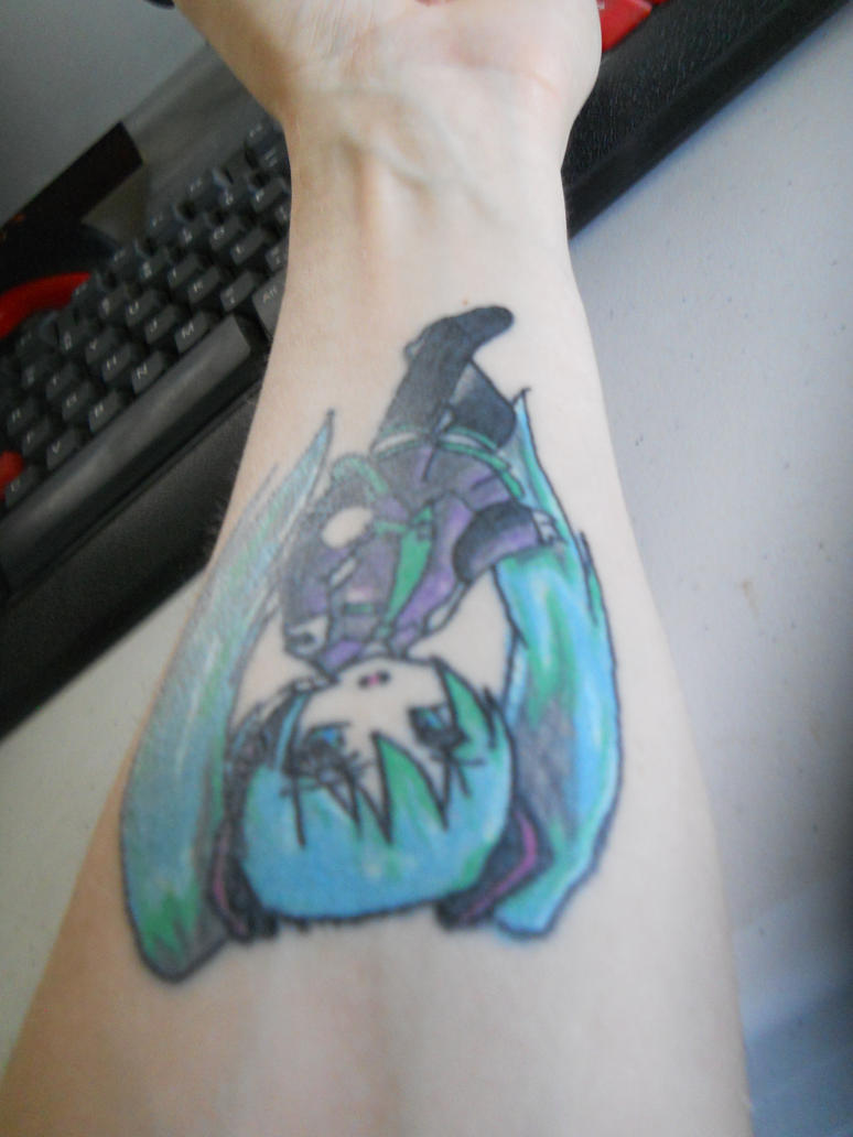 My Hatsune Miku Tattoo all Healed up. by Nara-Ousansamaki