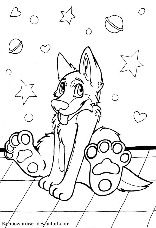 huskies colouring pages - Cute Husky Puppies Coloring Pages