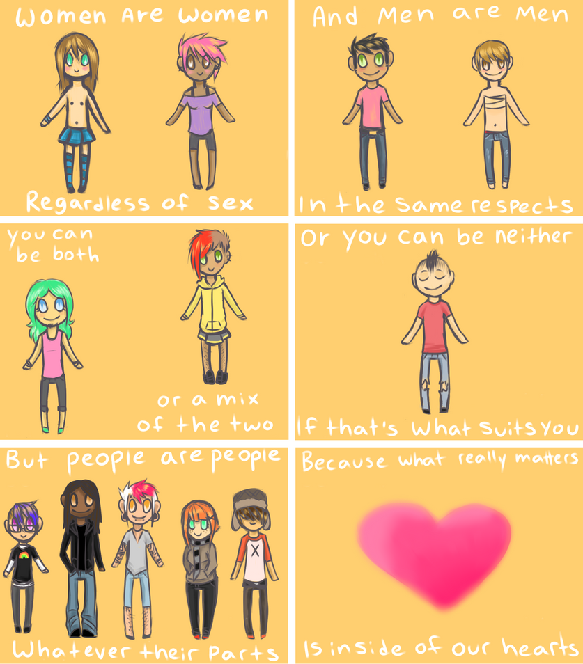 A Comic About Gender by RainbowBruises