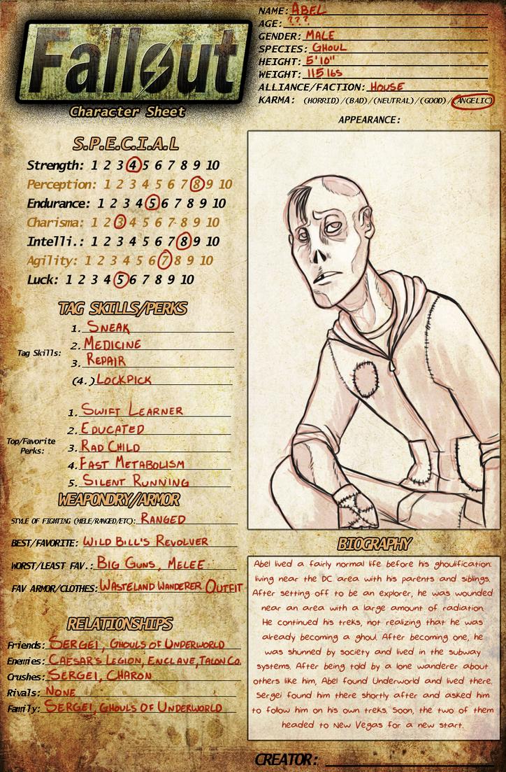 fallout pnp character sheet pdf