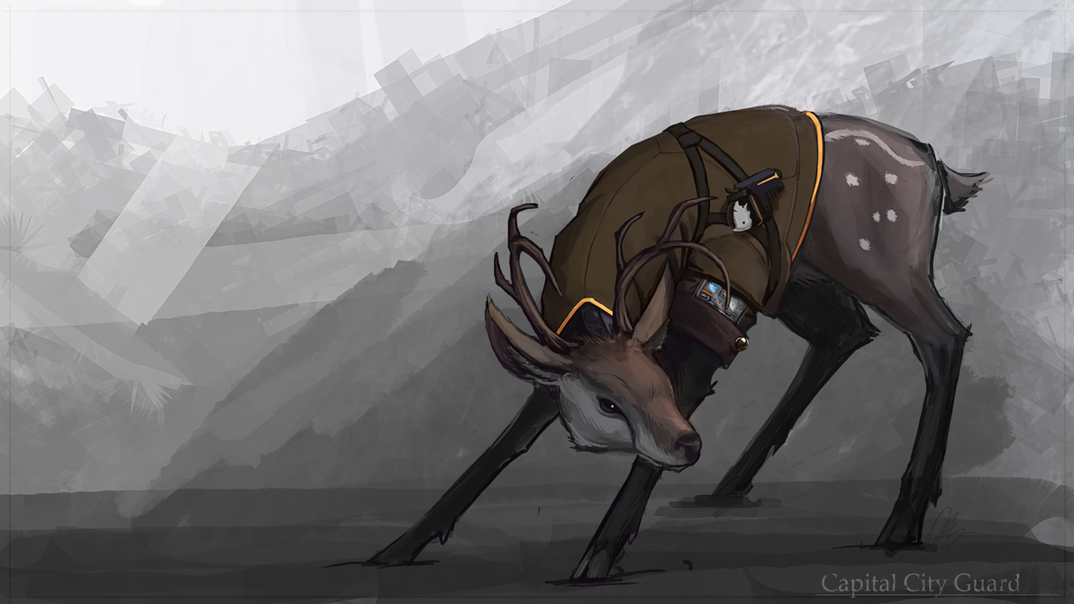 Deer City Guard by I-am-knot
