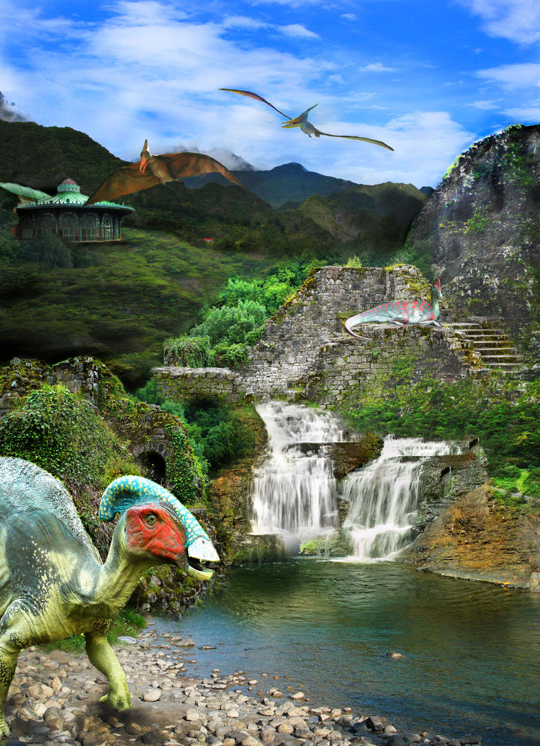 Dinosaur Photomontage by Sabbathcat85