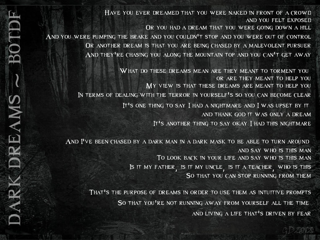 Botdf dark dreams lyrics by gd0578 on deviantart for 1 2 34 get on the dance floor lyrics