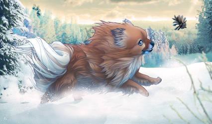 Mini the Pomeranian - finished- by henu