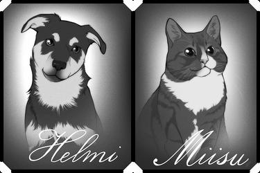 Helmi and Miisu by henu