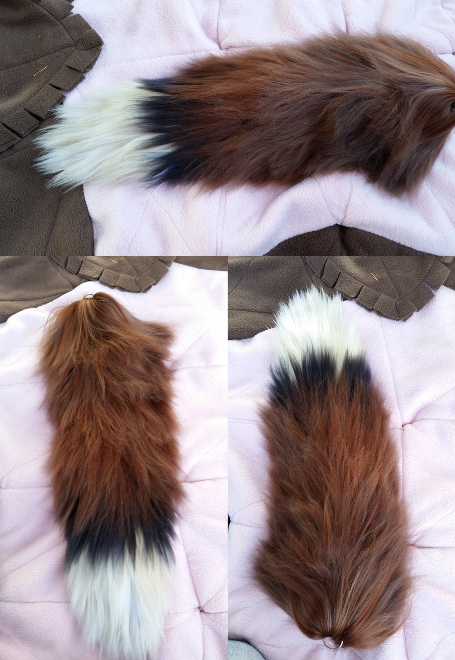 how to make a fox tail with yarn