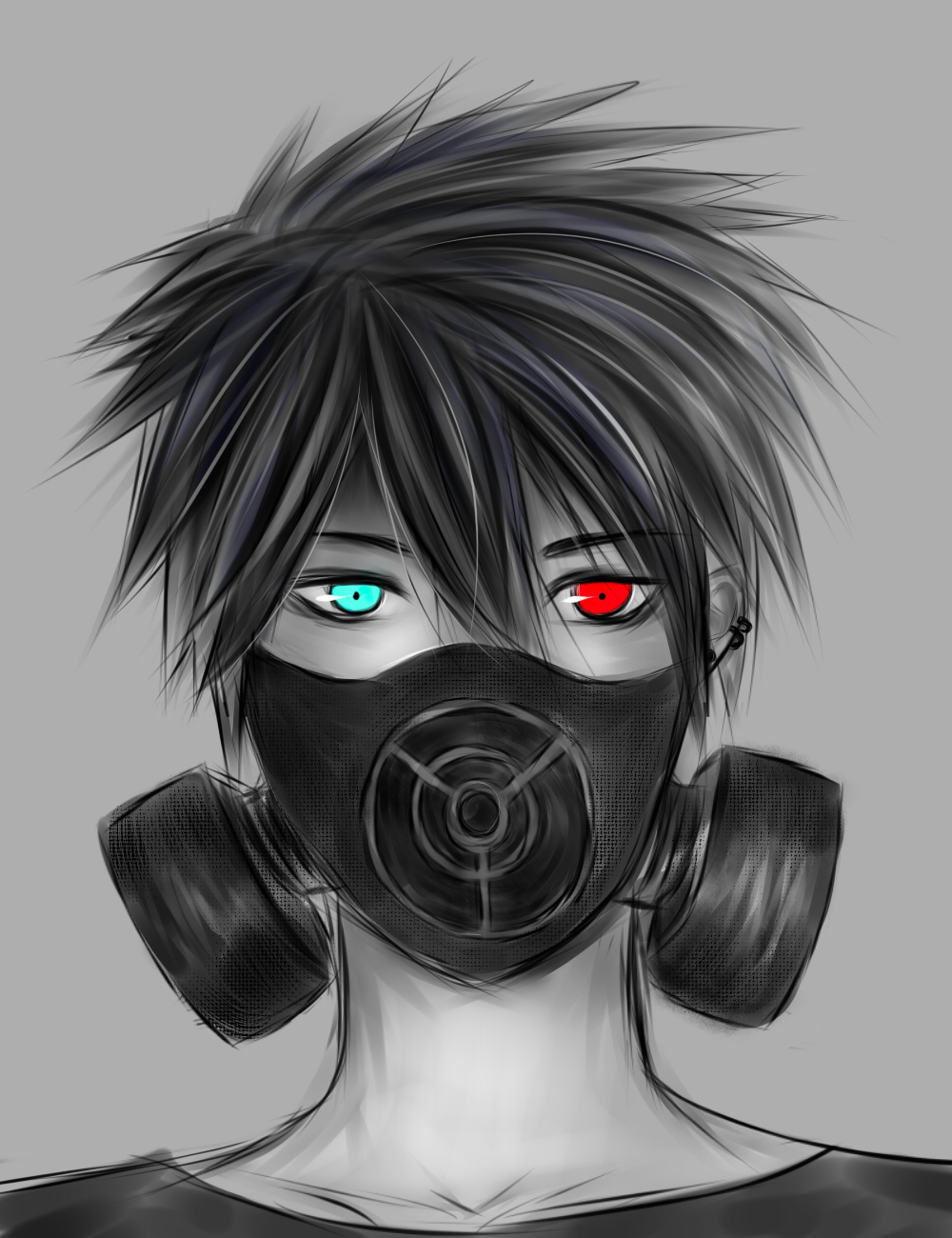 Anime Manga Boy With Gasmask By Kisunari On DeviantArt