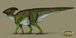 Parasaurolophus Male Forest