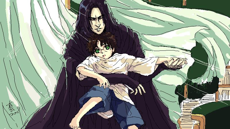 takamin  Severus snape  and hp by woshibbdou