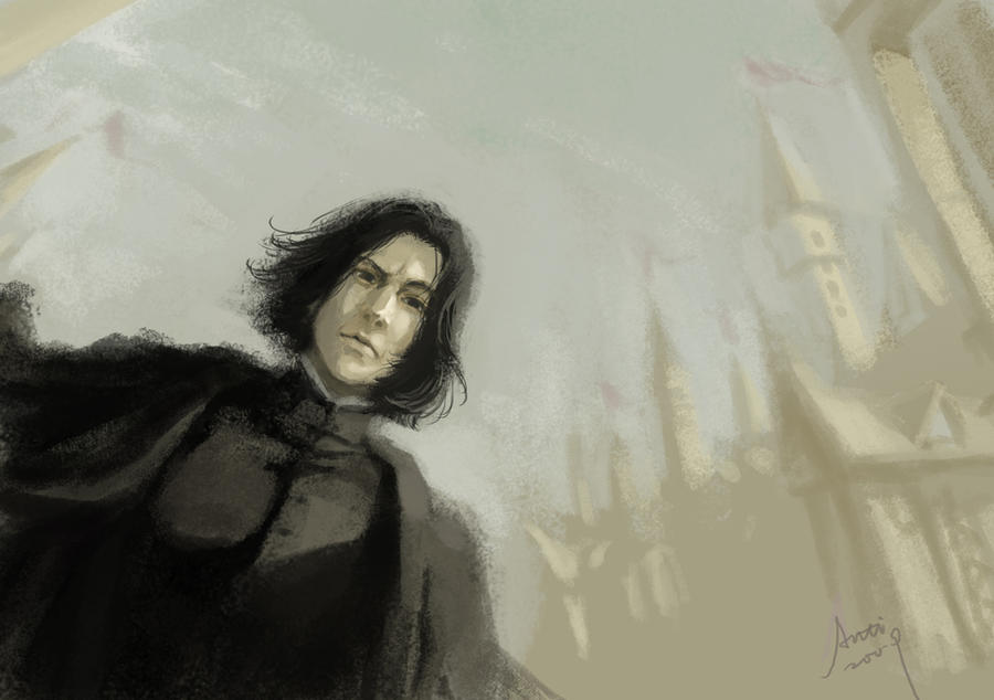 Severus Snape - Hogwarts by woshibbdou