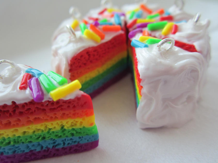 Birthday Cake Images Hq : Rainbow Cake Charm by puddingfishcakes on DeviantArt