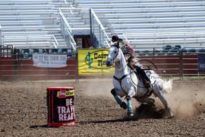 CWU Rodeo: Barrel Racing by saudimack